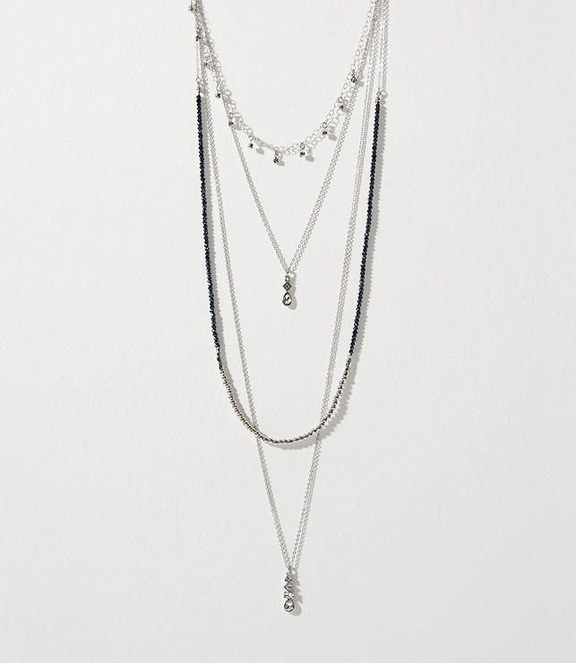 Crystal Beaded Layering Necklace Set