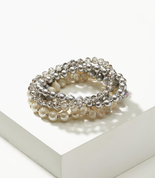 Mixed Pearlized Stretch Bracelet Set