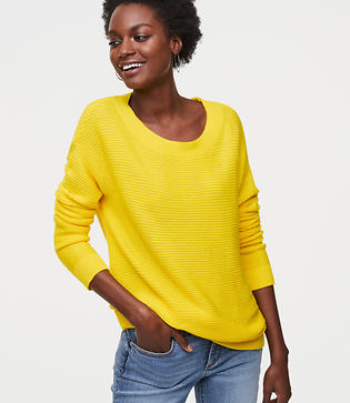LOFT Ribbed Tunic Sweater