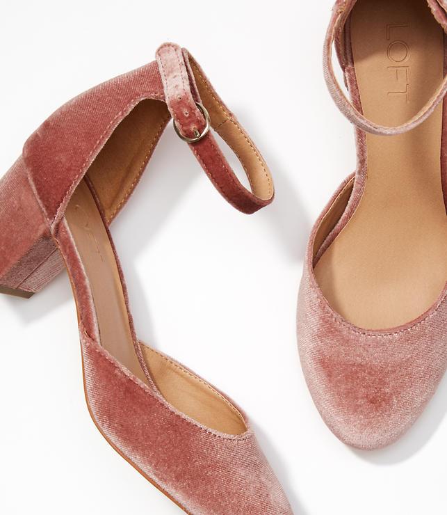 Velvet Block Heels