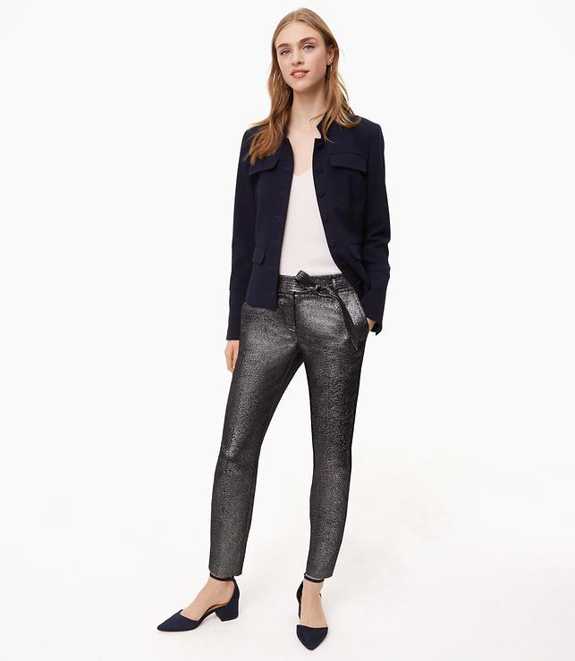 Slim Shimmer Tie Waist Pants in Marisa Fit