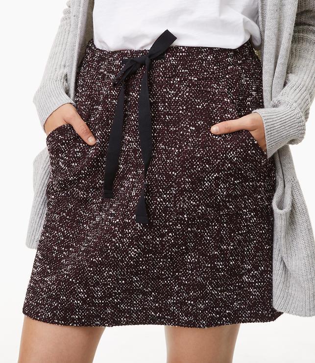 Tweed Pocket Jogger Skirt