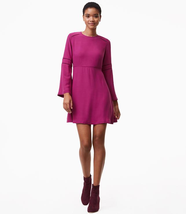 Cutout Bell Sleeve Flare Dress