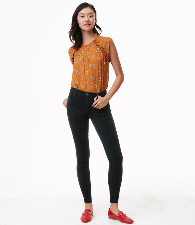 Skinny Brushed Corduroy Pants in Modern