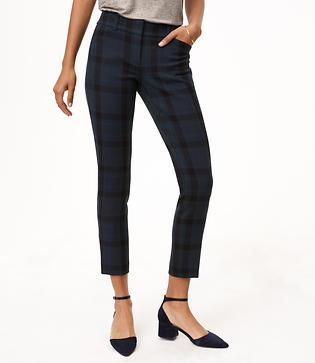 LOFT Skinny Plaid Pants in Julie Fit