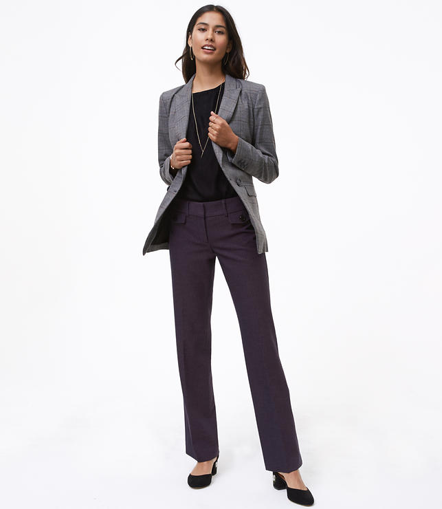 Tall Trousers in Button Pocket Tweed in Marisa Fit