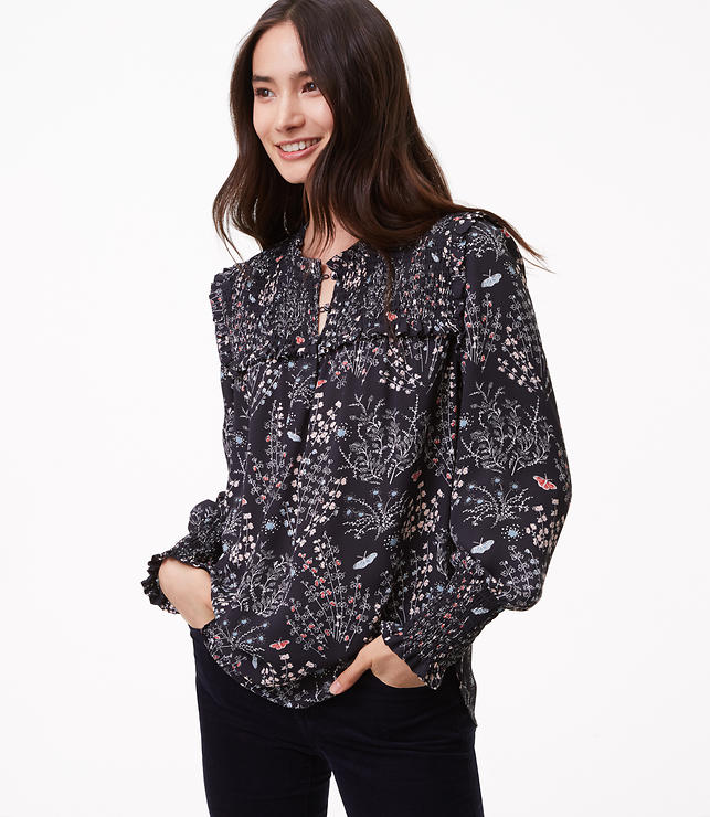Petite Butterfly Forest Blouse
