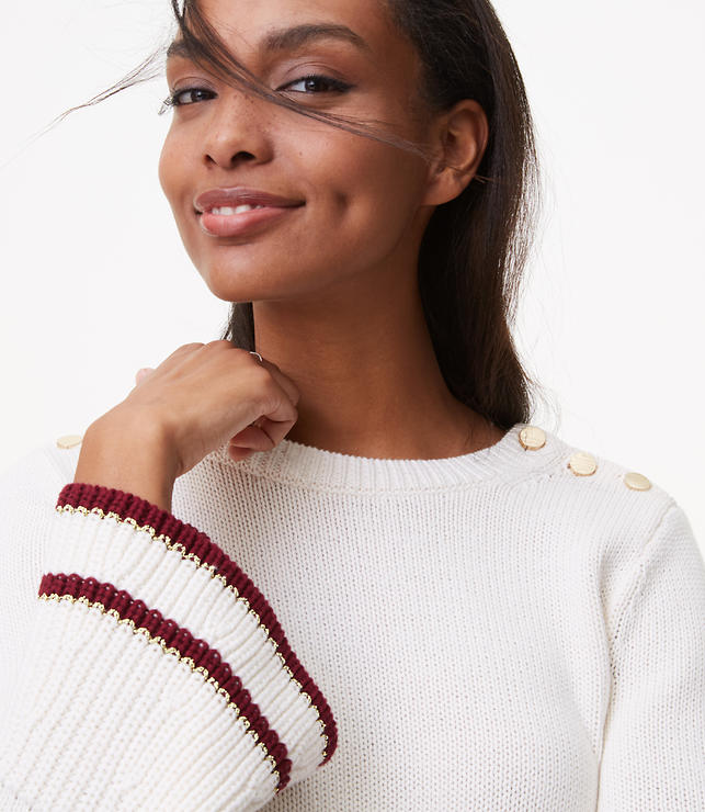 Tipped Bell Sleeve Sweater