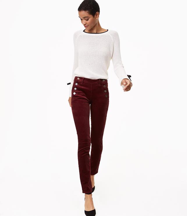 Modern Velvet Sailor Skinny Pants