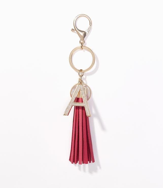 Initial Tassel Keychain