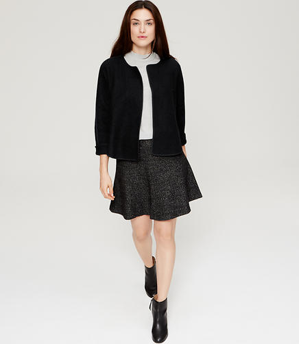 Image of Petite Tipped Wooly Jacket