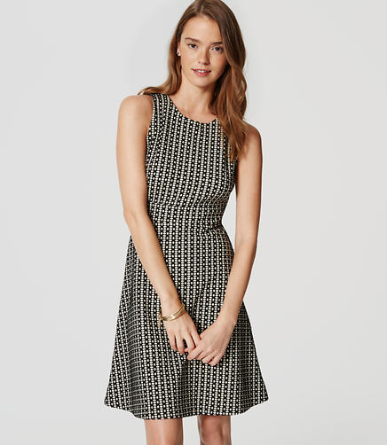 Image of Block Dot Flare Dress