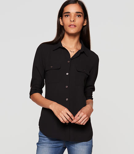 Image of Petite Utility Blouse