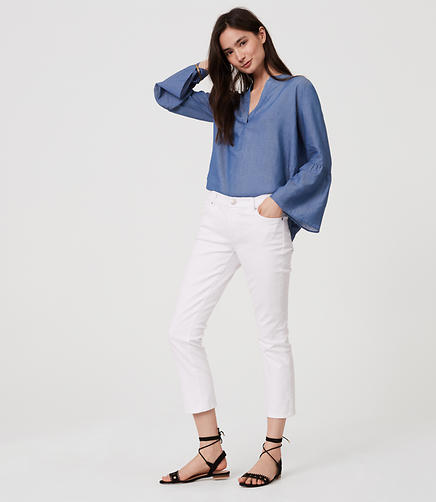 Image of Modern Kick Crop Jeans in White