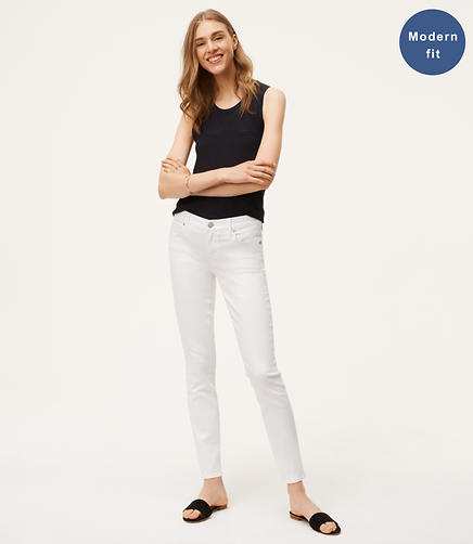 Image of Petite Modern Skinny Jeans in White