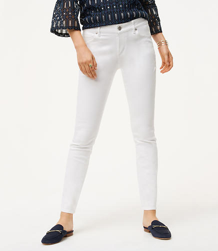 Image of Petite Curvy Skinny Jeans in White