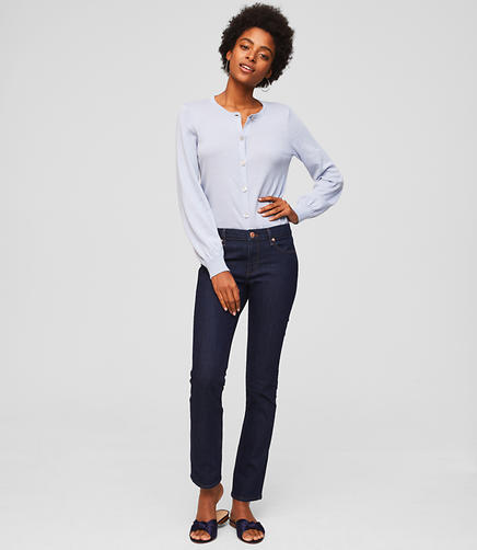 Image of Petite Modern Straight Leg Jeans in Dark Rinse Wash