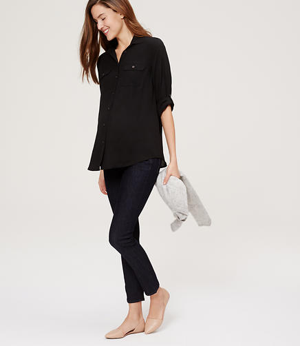Image of Maternity Skinny Jeans in Dark Rinse Wash