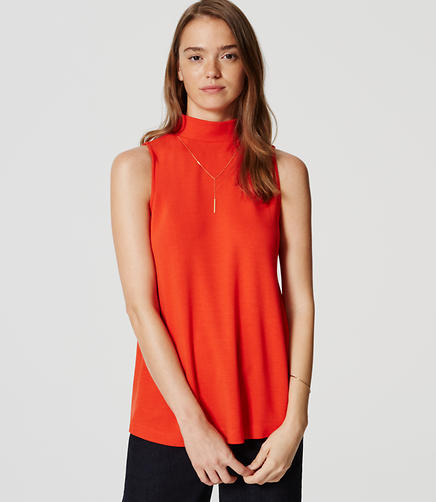 Image of Sleeveless Mockneck Top