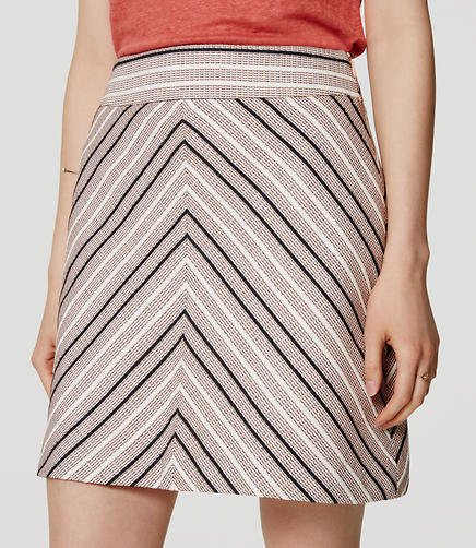 Image of Petite Chevron Tweed Skirt