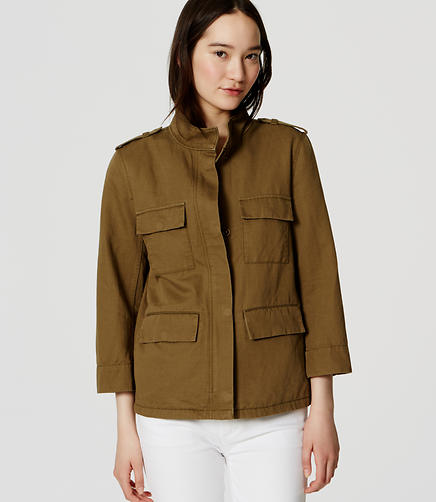 Tall Linen Cotton Cargo Jacket