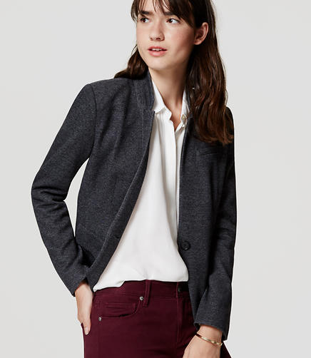 Image of Knit Notched Blazer