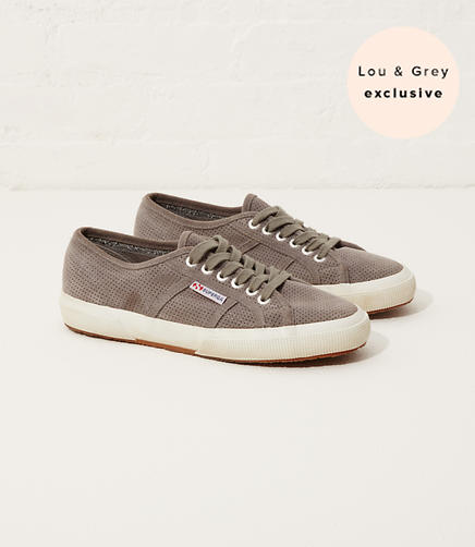 Image of Exclusive Lou & Grey x Superga 2750 Perf Suede Sneakers