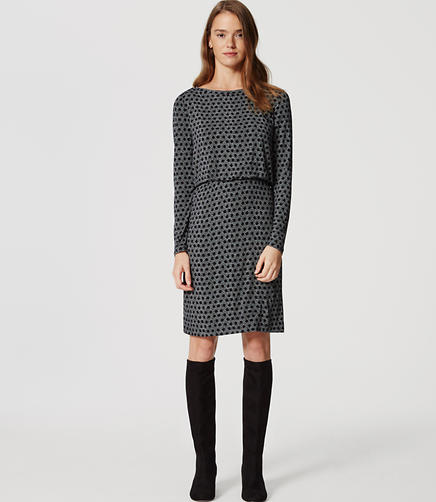 Image of Mixed Dot Blouson Dress