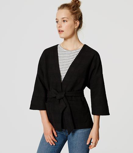 Image of Belted Kimono Jacket