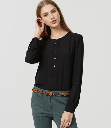 Image of Modern Henley Blouse
