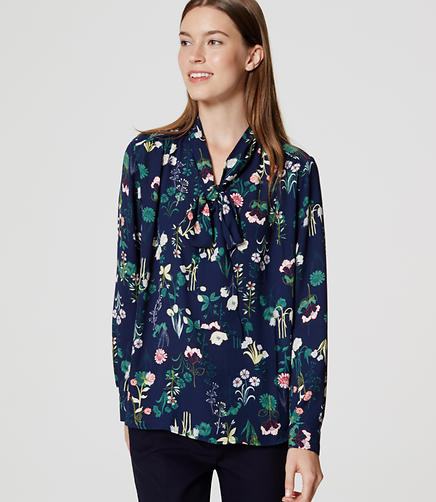 Image of Valley Floral Bow Blouse
