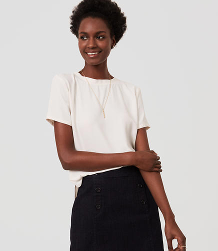 Image of Petite Shirttail Top