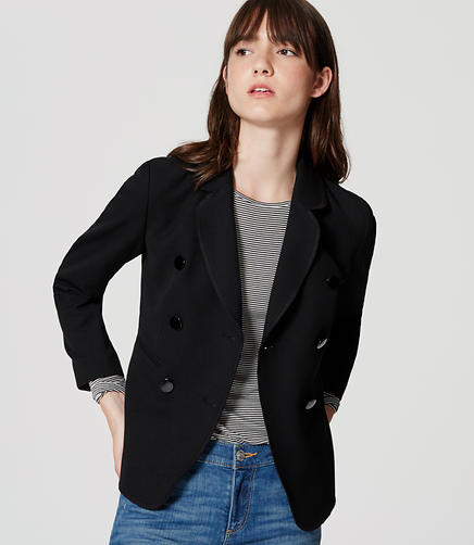 Image of Petite Double Breasted Blazer