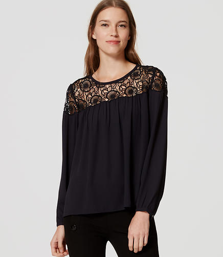 Image of Lace Yoke Blouse