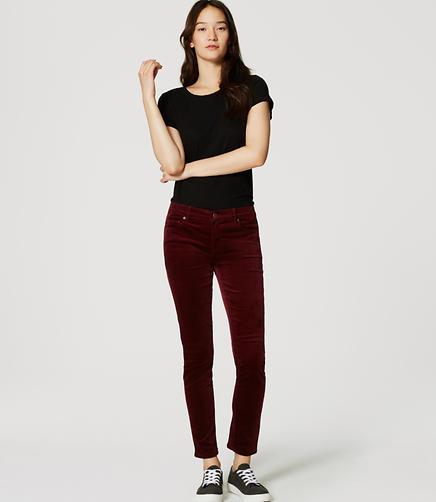 Image of Modern Skinny Velvet Pants