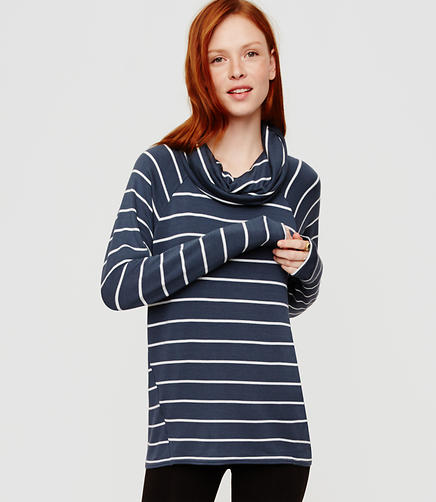 Image of Lou & Grey Striped Signaturesoft Cowl Tunic