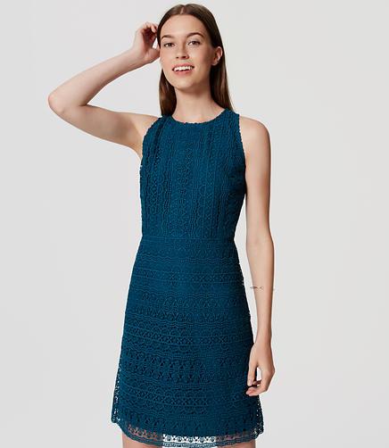 Image of Petite Lace Flare Dress