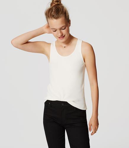 Image of Ribbed Sweater Tank