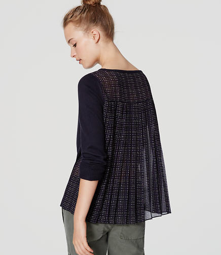 Image of Plaid Pleated Sweater