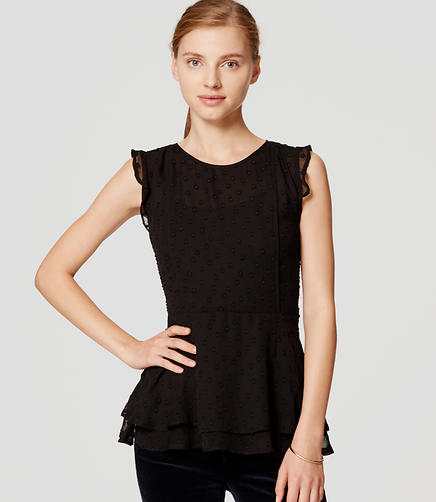 Image of Dot Flutter Peplum Top