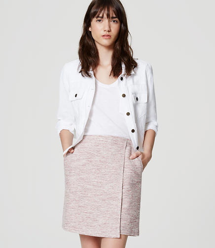 Image of Tweed Wrap Skirt