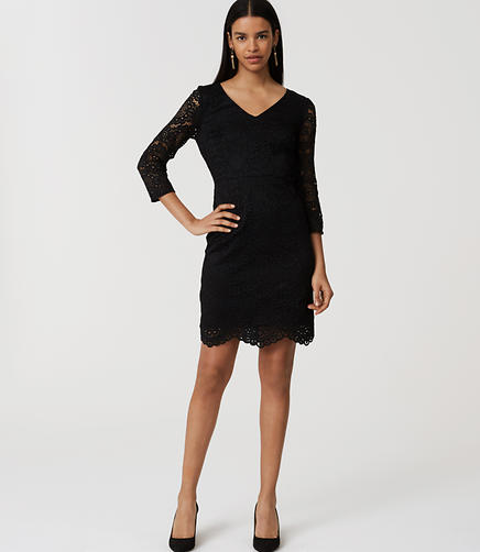 Image of Lace V-Neck Dress