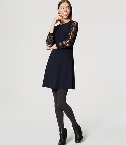 Image of Lace Sleeve Dress