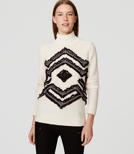 Image of Fringed Snowflake Sweater