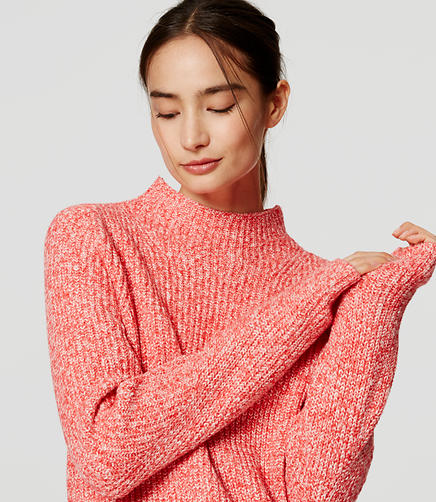 Image of Ribbed Mockneck Sweater