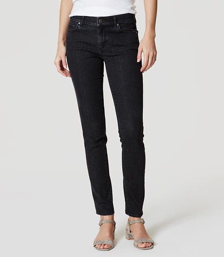 Image of Curvy Skinny Jeans in Dark Grey Wash