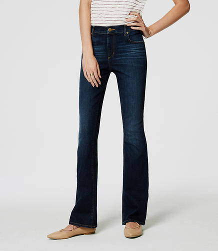Image of Modern Boot Cut Jeans in Pure Dark Indigo