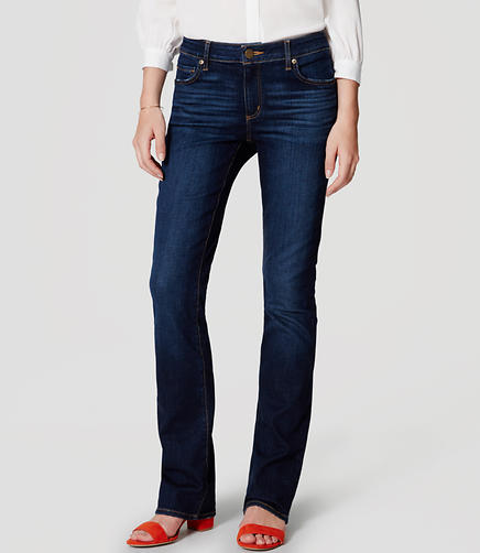Image of Curvy Boot Cut Jeans in Pure Dark Indigo
