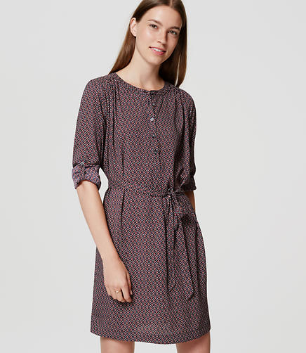 Image of Petite Bloom Shirtdress