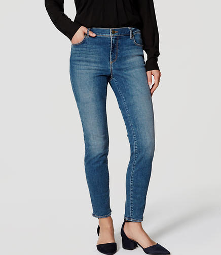 Image of Curvy Skinny Jeans in Authentic Mid Indigo Wash